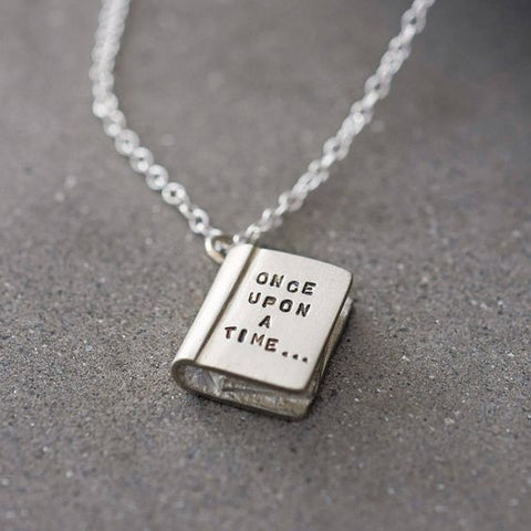 "Engraved ""ONCE UPON A TIME..."" Story Book Necklace"