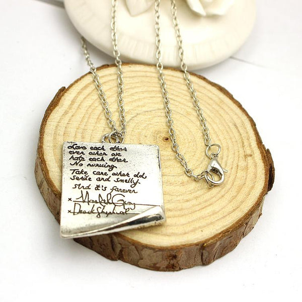 Greys Anatomy Quote Necklace