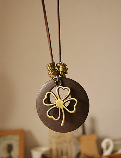 4-Leaf Clover Pendant Necklace,