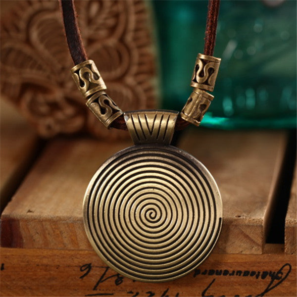 Hand Crafted Swirl Pendant Necklace