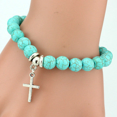 Turquoise Charm Bangle Bracelet