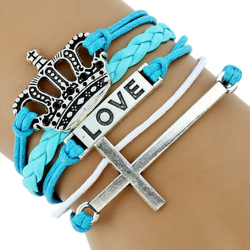 Love Bangle with Silver Cross