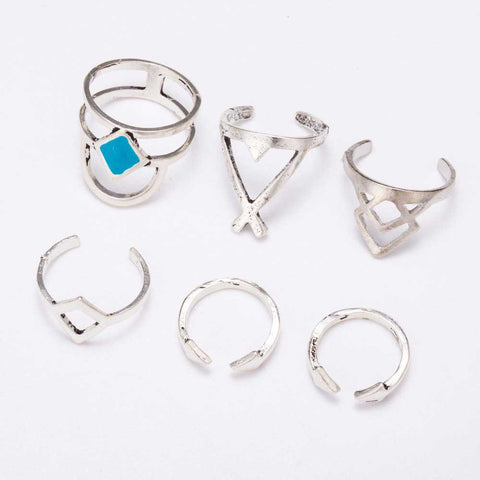 Six-Piece Mixed Rings Set
