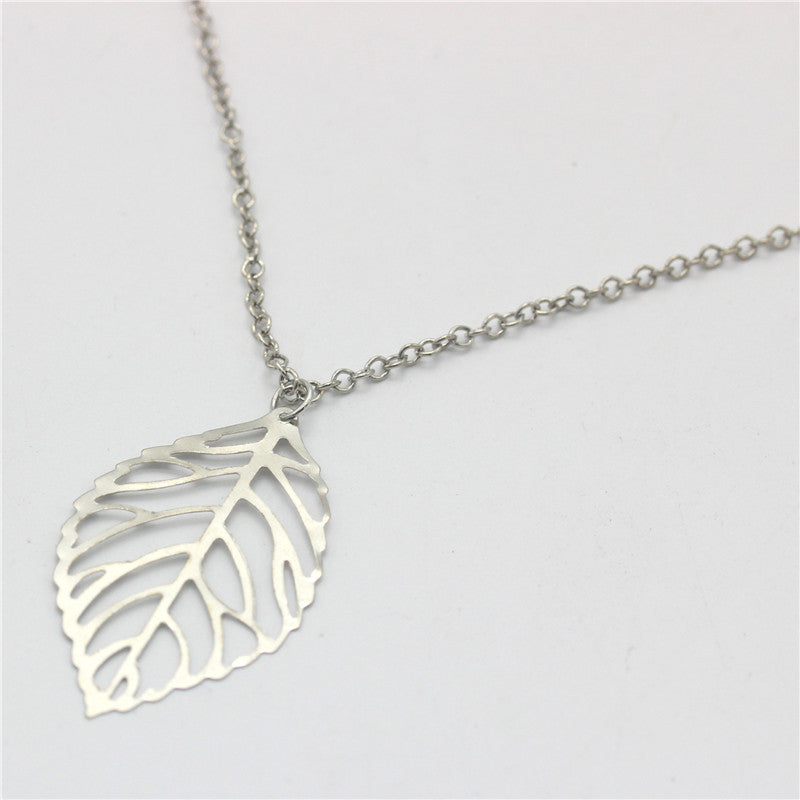 Goldsilver leafleaves necklace beold goldsilver leafleaves necklace aloadofball Image collections
