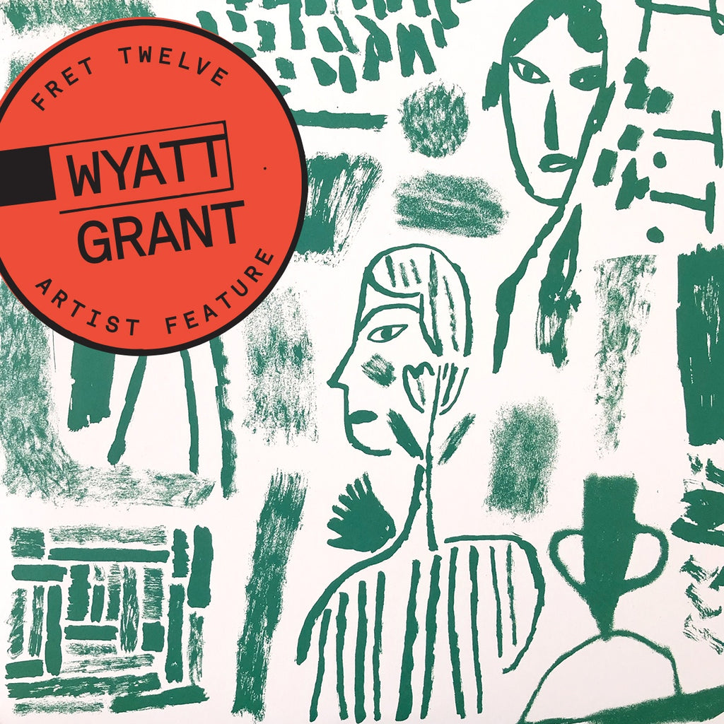 Wyatt Grant Artist feature on green artistic drawings