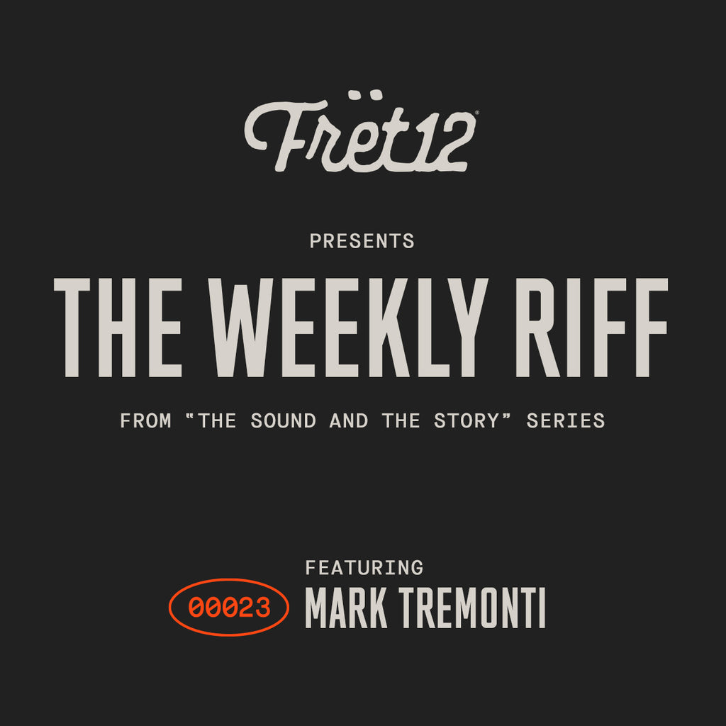 weekly riff fret12 mark tremonti on black