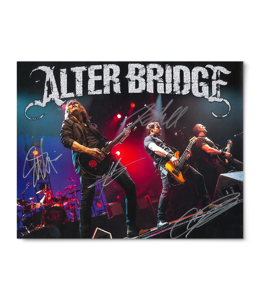 Limited Edition Alter Bridge Autographed Poster