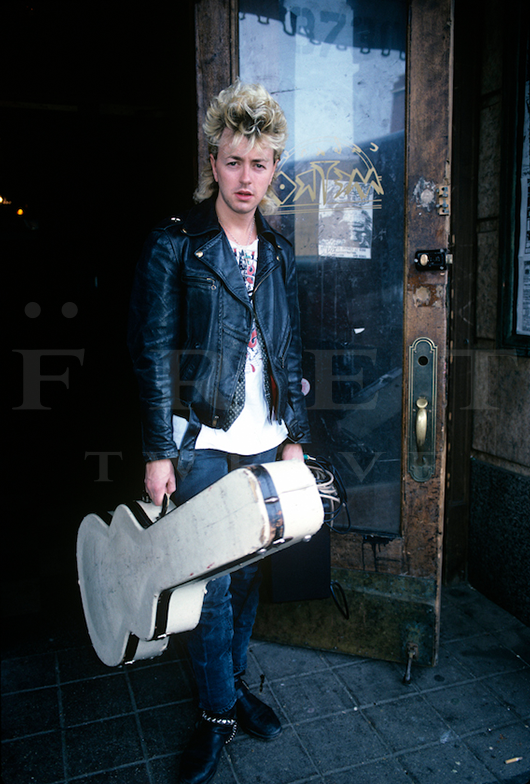 Brian Setzer of Stray Cats, Chicago Metro 1986