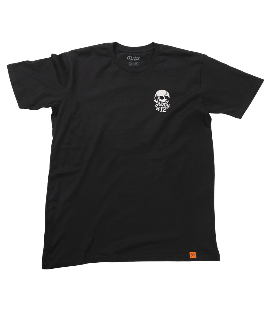 ARMY OF 12 TEE - BLACK