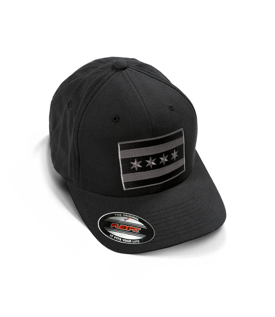 "MONOCHROME CHICAGO FLAG ""F"" LOGO HAT – BLACK"