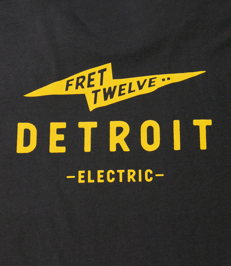 FRET TWELVE ELECTRIC DETROIT BOLT TEE - COAL