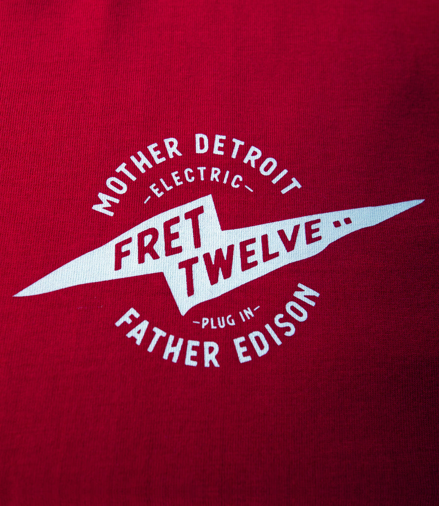 FRET TWELVE ELECTRIC DETROIT WINGS TEE - RED