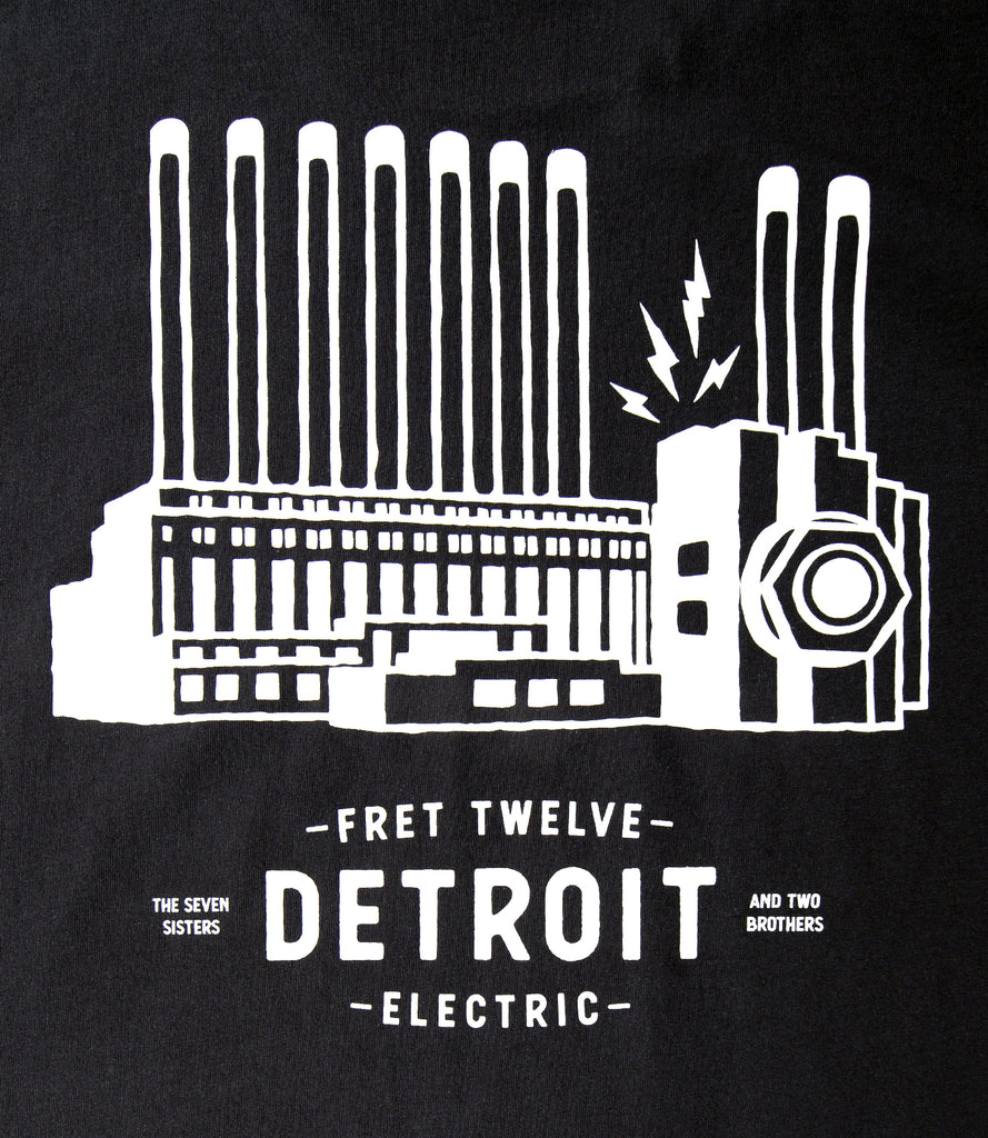 DETROIT POWER PLANT TEE - BLACK