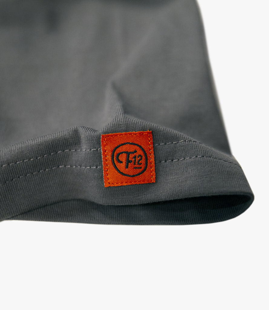 FRET12 RECORDS LOGO TEE - CHARCOAL