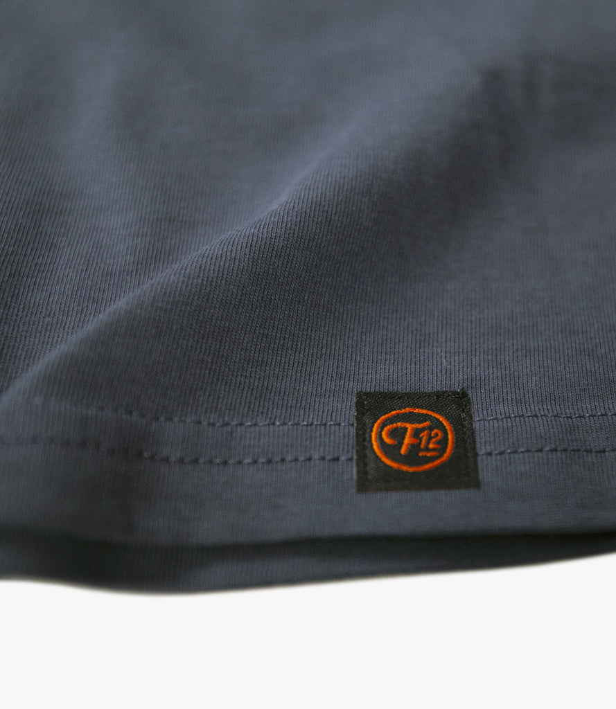 FRET12 RECORDS LOGO TEE - PETROL BLUE
