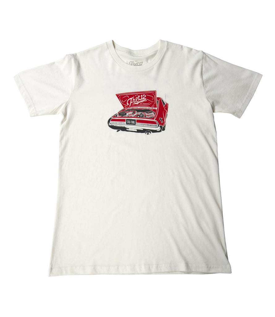 Fret12 Trunk Records White Tee