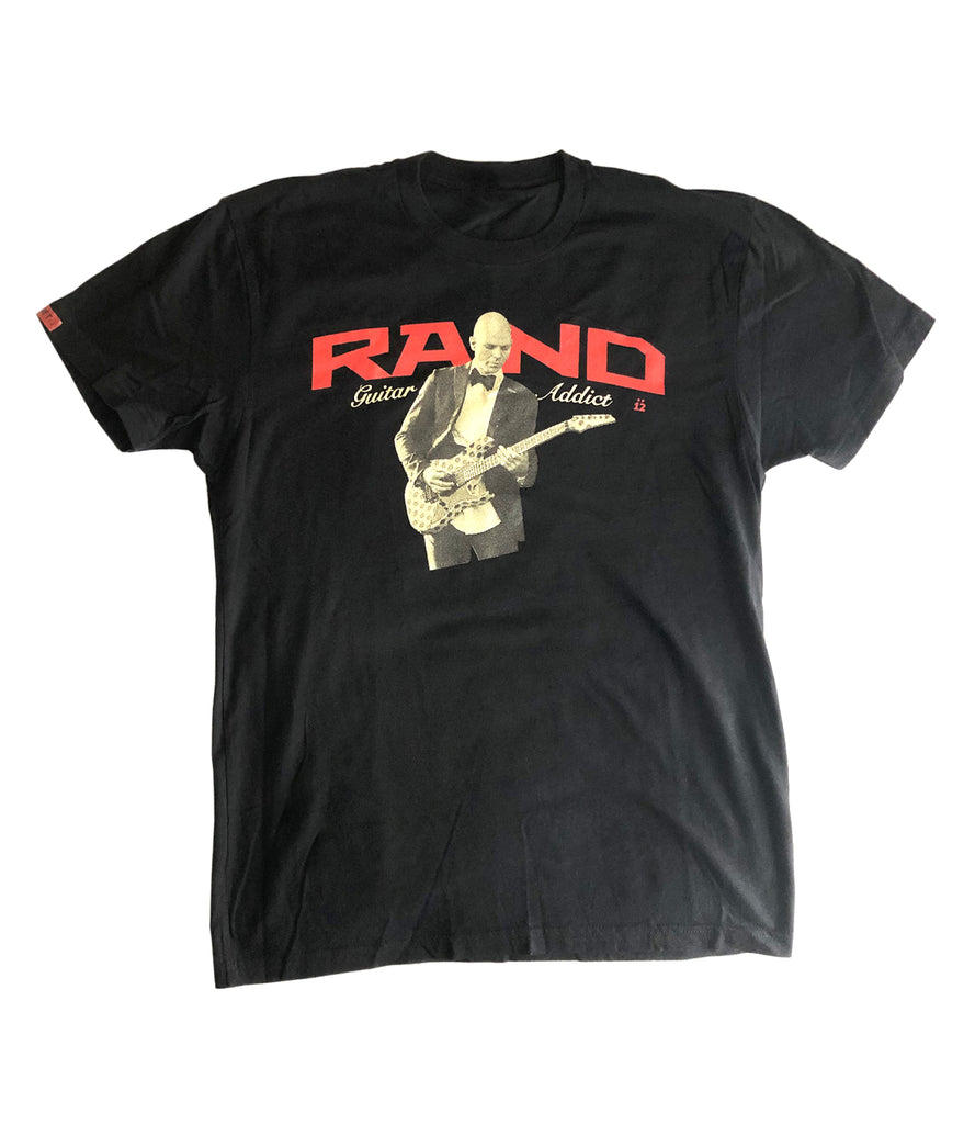 JOSH RAND (Stone Sour) GUITAR ADDICT TEE – BLACK