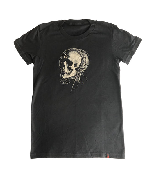 STRUNG OUT SKULL WOMEN'S TEE – BLACK