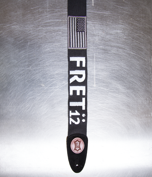FRET12 MONOCHROME FLAG GUITAR STRAP