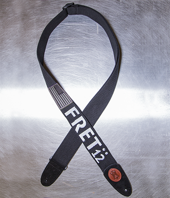 Limited Edition FRET12 Monochrome Flag Guitar Strap