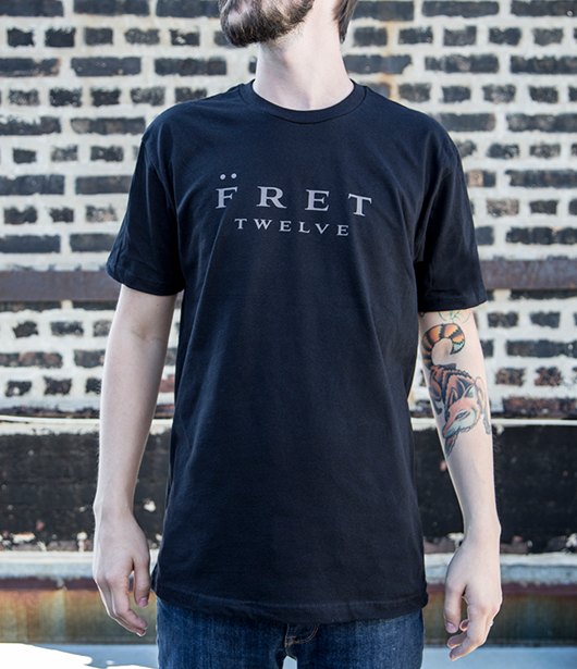 FRET TWELVE LOGO TEE – BLACK