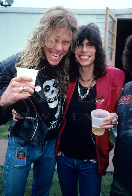 James Hetfield & Steven Tyler, Iowa Jam 1986