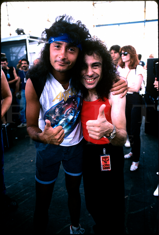 Joey Belladonna and Ronnie James Dio