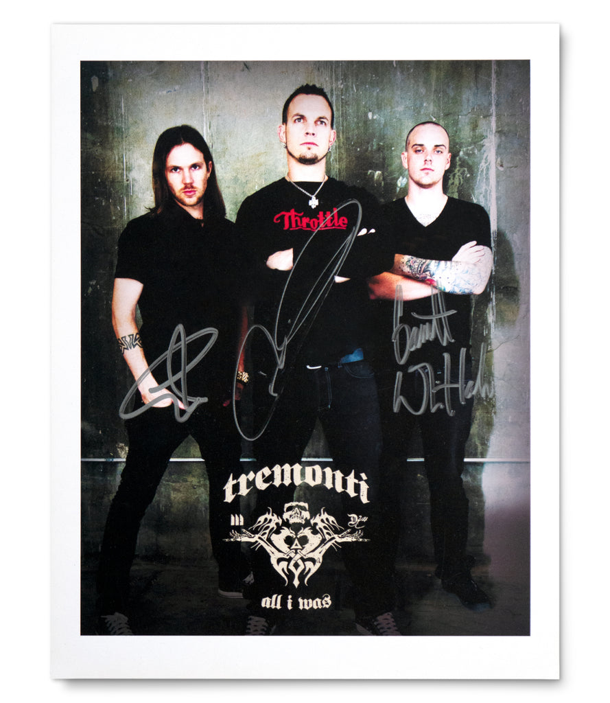 "Limited Edition TREMONTI ""All I Was"" Autographed Photo"