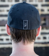 "Monochrome American Flag with ""F"" Logo - Flexfit Hat"