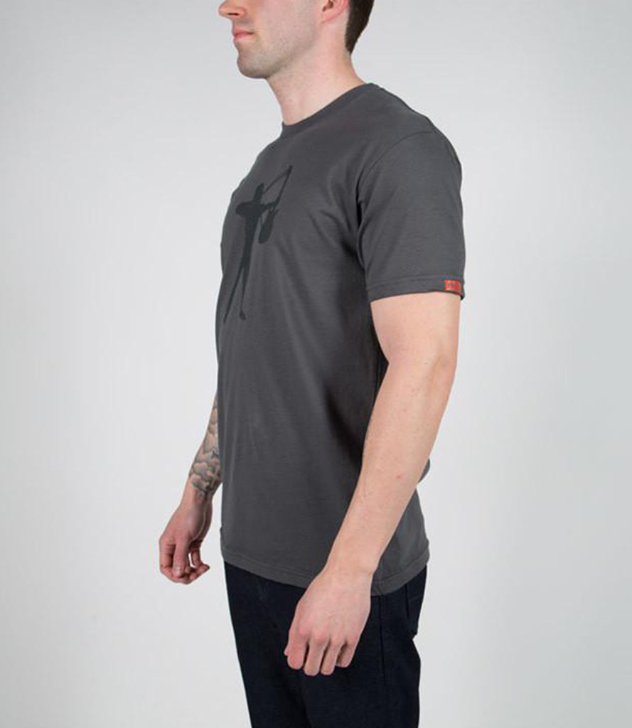 CLINT LOWERY (Sevendust) STRETCH YOUR STRINGS TEE – GRAY