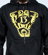 JIM ROOT (Slipknot) ENGINE 13 ZIP-UP HOODIE – BLACK