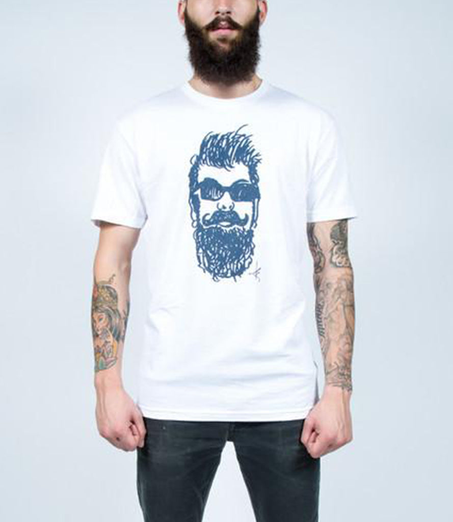 JIM ROOT (Slipknot) SKETCH FACE TEE – GRAY