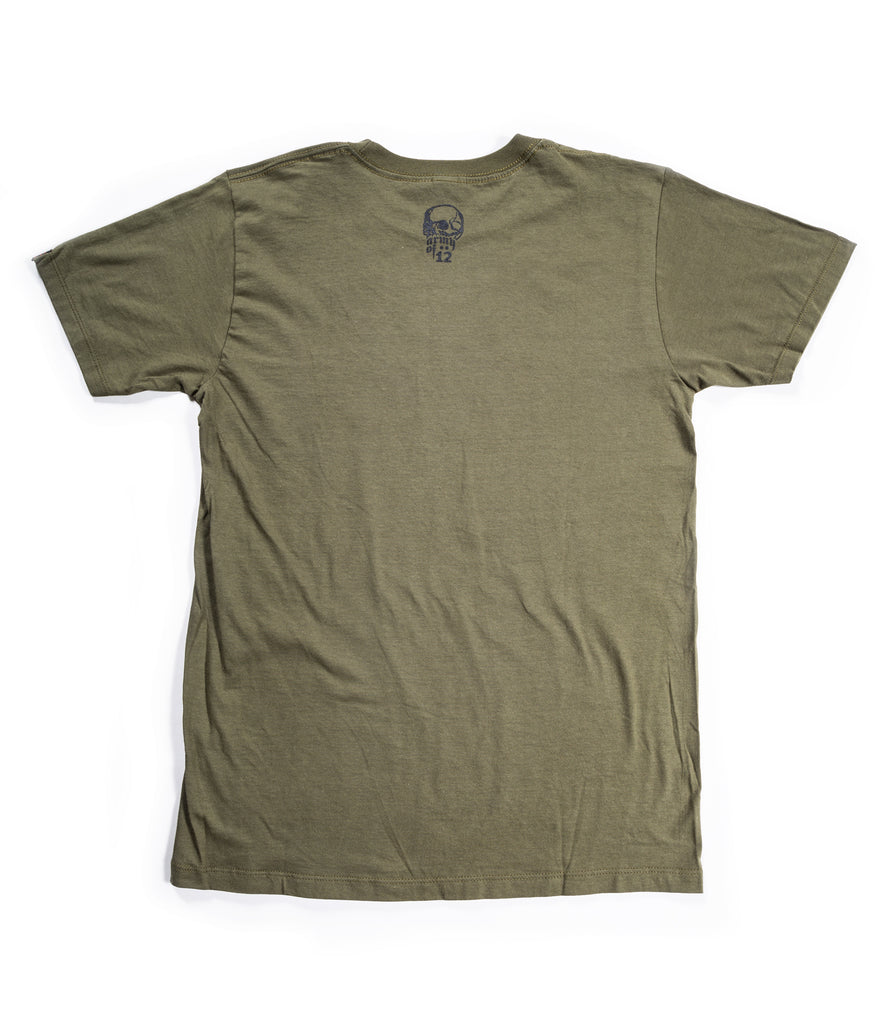 ARMY OF 12 OLD SCHOOL LOGO TEE - ARMY