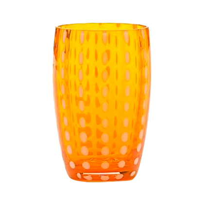 PERLE TUMBLER ORANGE CRISTALERÍA TASTED