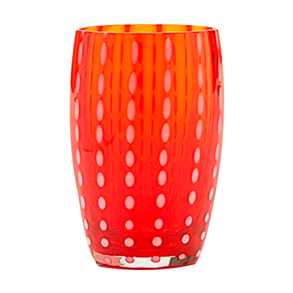 PERLE TUMBLER RED CRISTALERÍA TASTED
