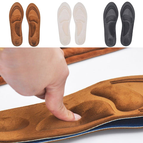 4D Flock Memory Foam Orthotic Insole Arch Support