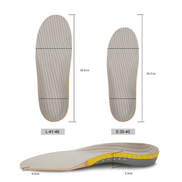 PVC Orthopedic Insoles Orthotics Flat Foot Health Sole Pad