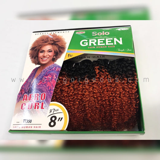 SOLO GREEN REMI 100% HUMAN HAIR AFRO CURL 8