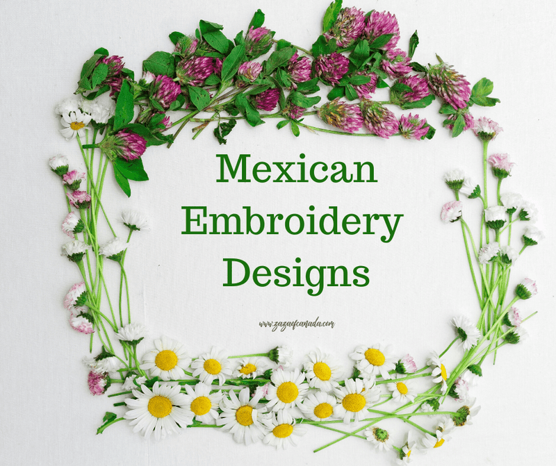 Mexican embroidery designs