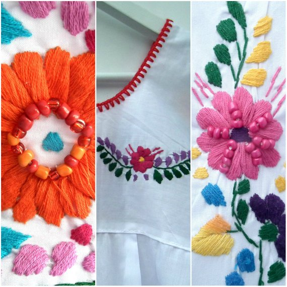 womens mexican embroidered dresses