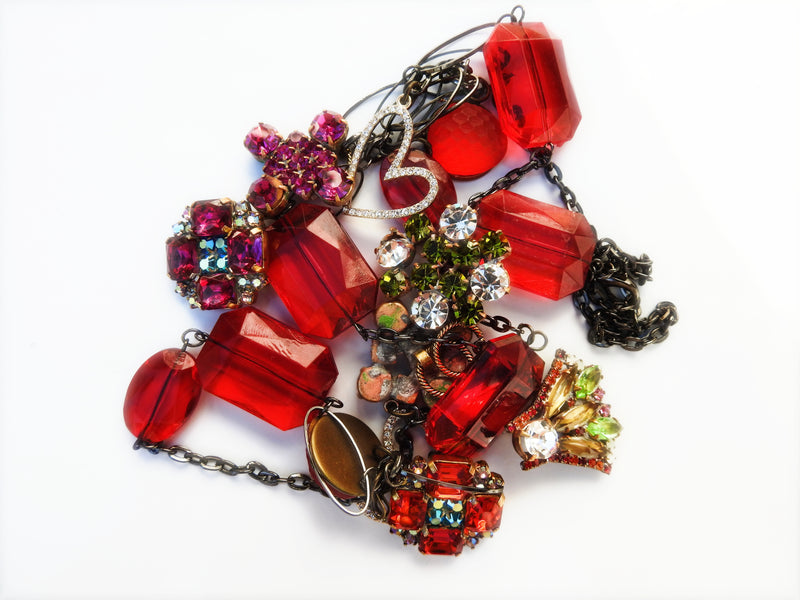 red fashion jewelry necklace