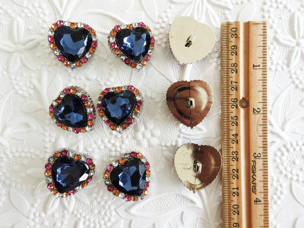 Heart shaped buttons - zazaofcanada