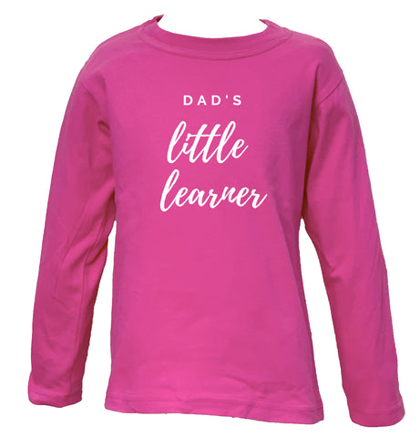 Dad's Little Learner - LONG SLEEVE TEE