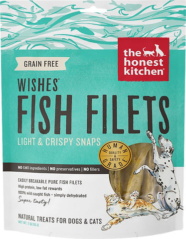The Honest Kitchen Wishes Dehydrated White Fish Filets Dog & Cat Treats
