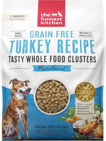 The Honest Kitchen Grain-Free Turkey Whole Food Clusters Dry Dog Food