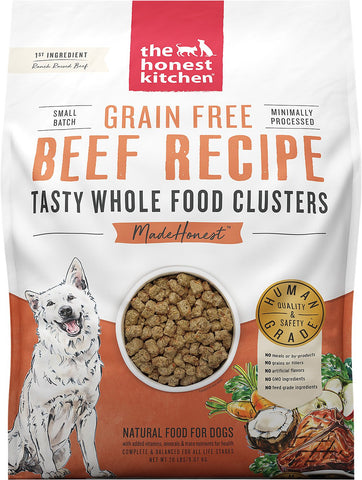 The Honest Kitchen Grain-Free Beef Whole Food Clusters Dry Dog Food