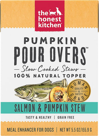 The Honest Kitchen Pumpkin POUR OVERS Salmon & Pumpkin Stew Wet Dog Food Topper
