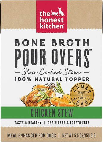 The Honest Kitchen Bone Broth POUR OVERS Chicken Stew Wet Dog Food Topper
