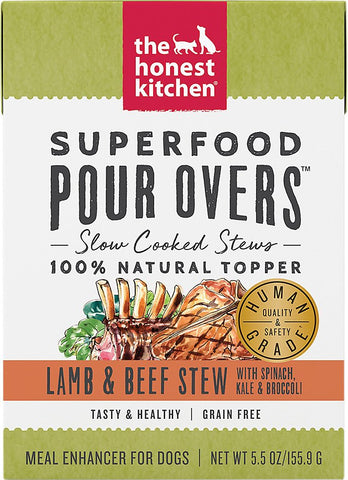 The Honest Kitchen Superfood POUR OVERS Lamb & Beef Stew with Veggies Wet Dog Food Topper