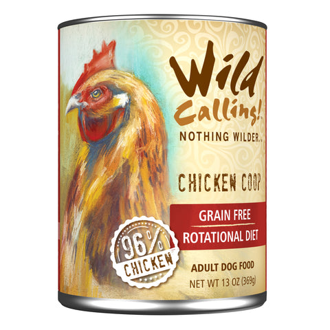 Wild Calling Chicken Coop Canned Dog Food